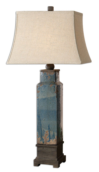 Soprana Blue Table Lamp by Uttermost