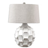 Guerina Scalloped White Accent Lamp