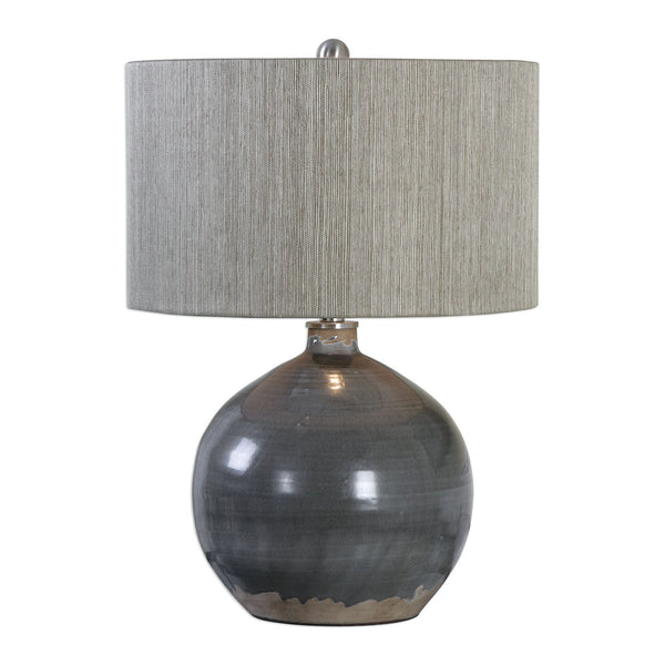 Vardenis Charcoal Gray Ceramic Accent Lamp