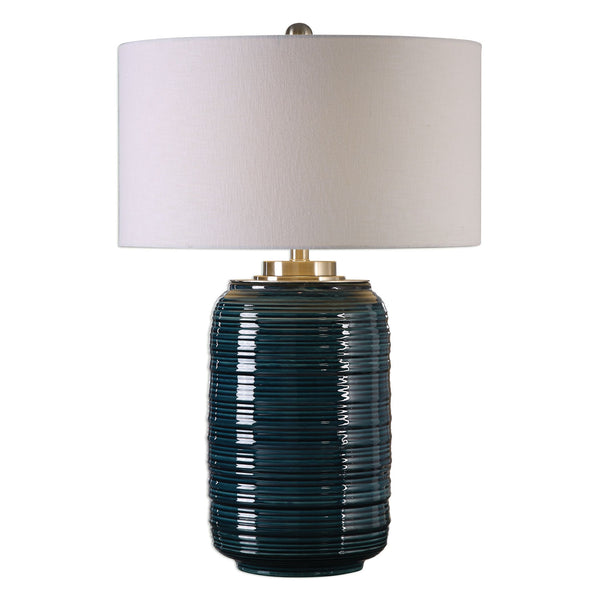 Delane Dark Teal Ceramic Table Lamp