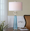 Navier Blue Glass Table Lamp by Uttermost