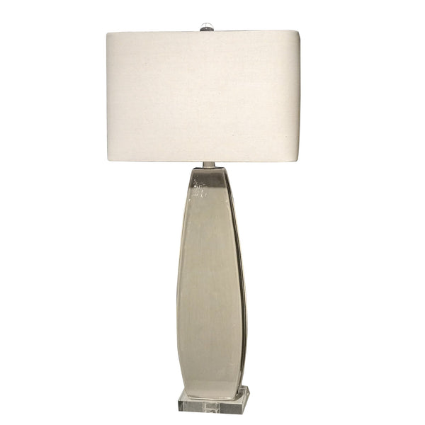 Michalla Contemporary Distressed Worn Gray Ceramic Table Lamp