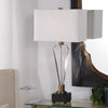 Cora Contemporary Geometric Crystal Table Lamp by Uttermost