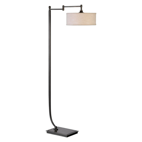 Lamine Farmhouse Dark Bronze Pivoting Floor Lamp