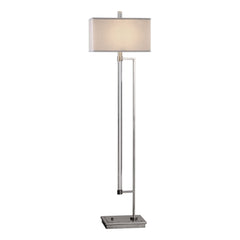 Mannan Modern Polished Nickel Floor Lamp by Uttermost