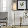 Celeste Contemporary Antique Brass Floor Lamp
