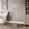 Carugo Contemporary Polished Nickel Floor Lamp