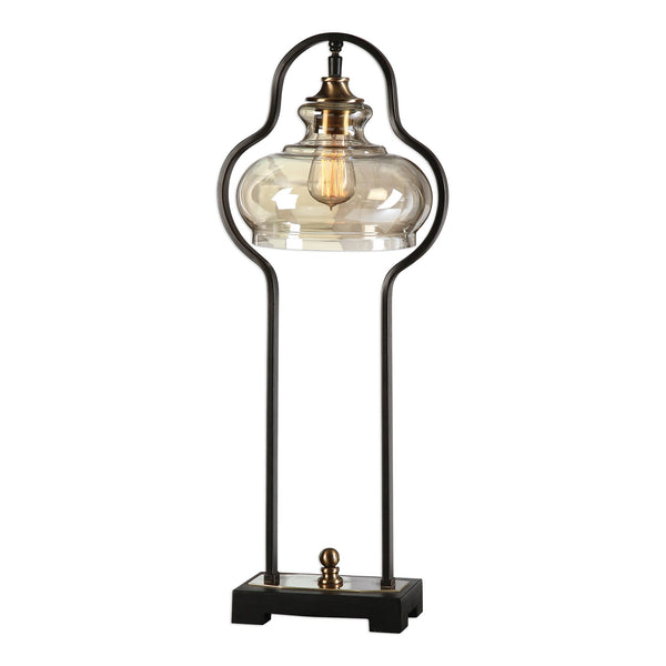 Cotulla Aged Black Table Lamp
