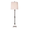 Teala Farmhouse Aged Black Buffet Lamp