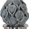 Elody Transitional Calla Lily Blue Gray Ceramic Buffet Lamp