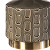 Darrin Mid-century Modern Crackled Gray Ceramic Accent Lamp