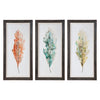 Tricolor Leaves Abstract Artwork, 3-Piece Set by Uttermost