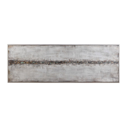 Cracked Sidewalk Abstract Hand Painted Artwork by Uttermost