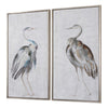 Summer Birds Hand Painted Framed Art, 2-Piece Set