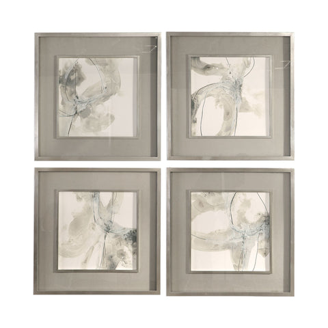 Divination Abstract Framed Art Prints, 4-Piece Set by Uttermost