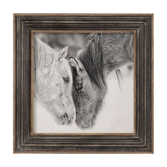Black And White Horses Photographic Framed Print by Uttermost