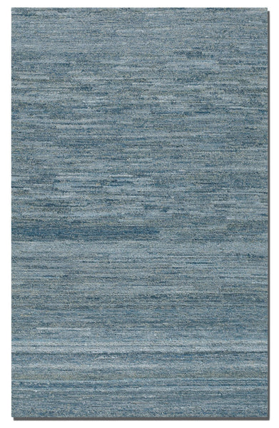 Genoa 5'x8' Denim and Wool Area Rug, Blue