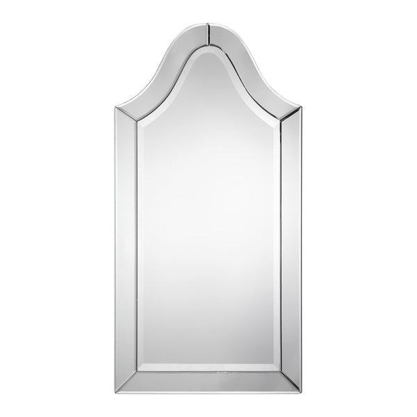Aurora Transitional Arched Beveled Wall Mirror