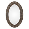 Janelle Transitional Aged Bronze Oval Wall Mirror