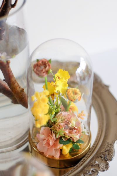 """Belle"" Bell Jar Flower"