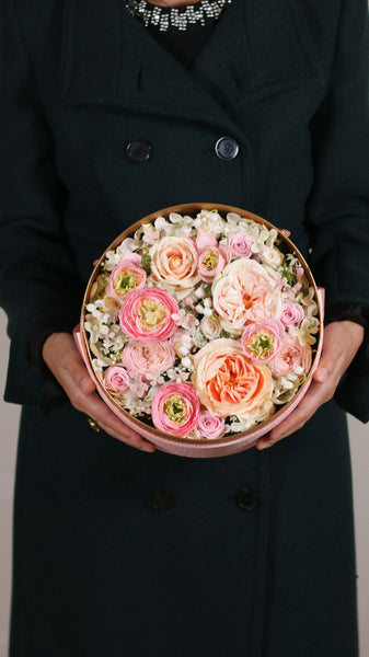 Peach Garden Rose Box