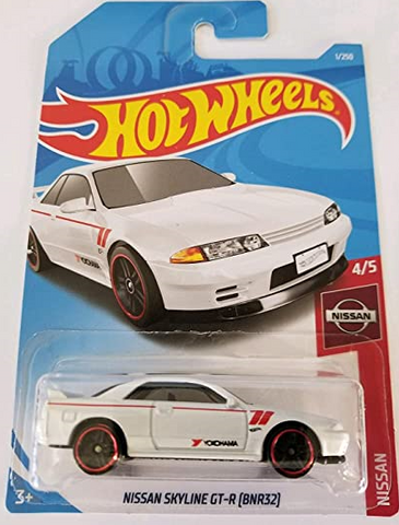 1:64 Scale Hot Wheels Nissan Series Skyline GTR R32 (BNR32) 1/250 Yokohama