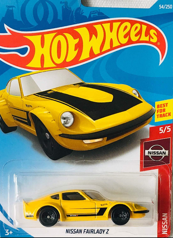 1:64 Scale Hot Wheels Nissan Fairlady Z Yellow or Red