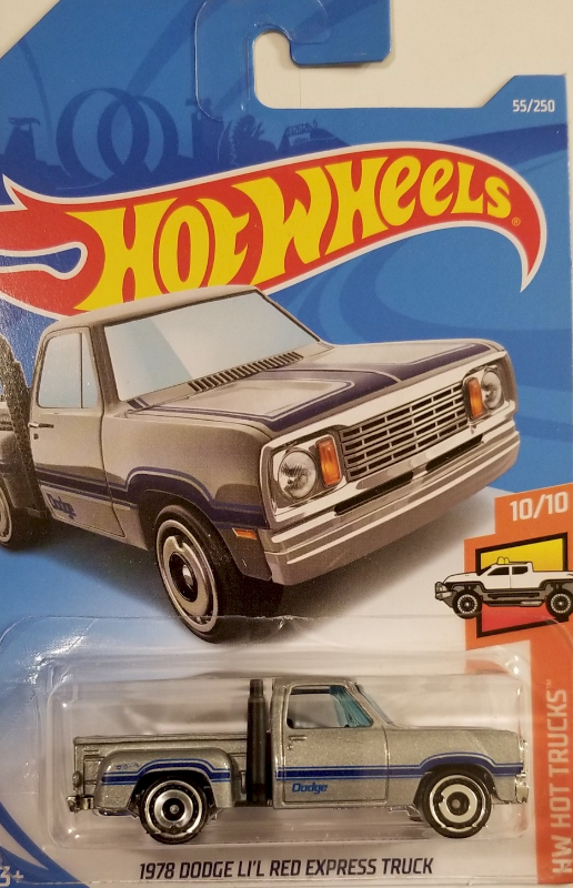 1:64 Scale Hot Wheels HW Hot Trucks 1978 Dodge LI'L Red Express Truck 55/250