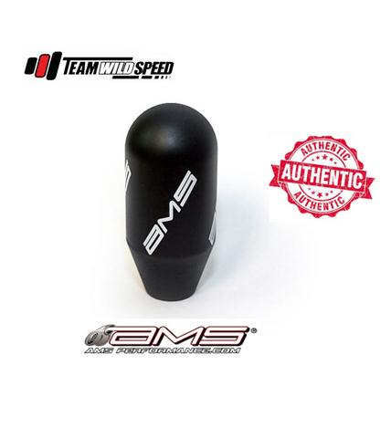AMS Black Shift Knob With Logo Mitsubishi Evolution EVO 7 8 8MR 9 10 5 6 Speed