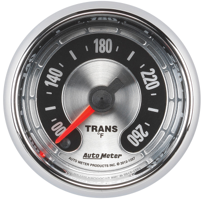 "AUTO METER AMERICAN MUSCLE TRANSMISSION TEMPERATURE GAUGE 2-1/16"" FULL SWEEP ELECTRIC 100-260F"