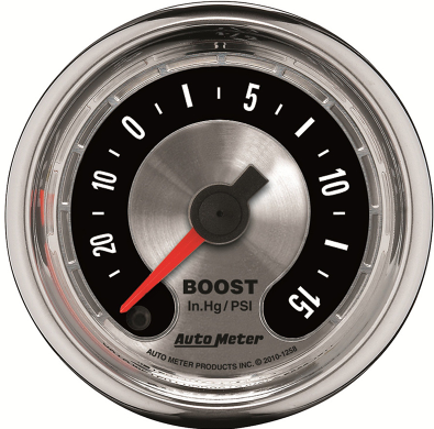 "AUTO METER AMERICAN MUSCLE BOOST VACUUM GAUGE 2-1/16"" FULL SWEEP ELECTRIC 30 IN HG./30PSI"