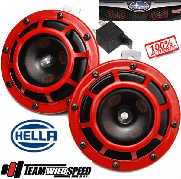 Genuine Hella Superton Horn Red Subaru WRX STi Forester Liberty