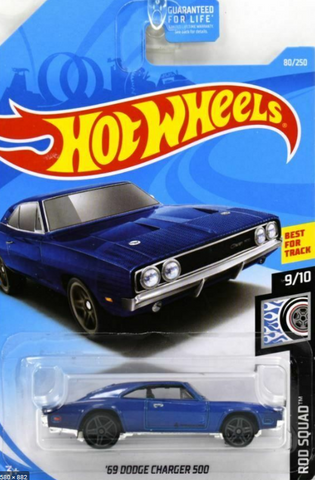 1:64 Scale 69' Dodge Charger 500 Blue 80/250