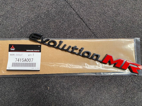 Genuine Japan Item, Mitsubishi Evolution MR Boot Badge CT9A