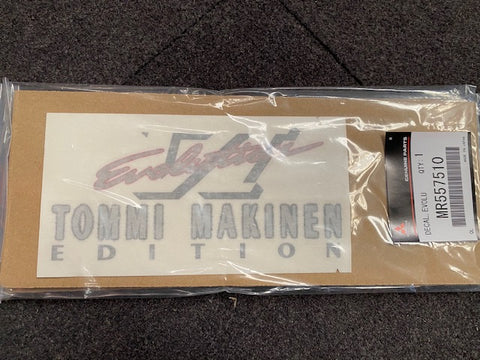 Genuine Japan Item, Mitsubishi Evolution Tommi Makinen Boot Decal