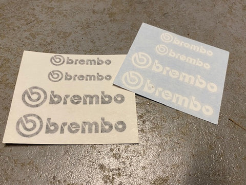 BREMBO Caliper Stickers For Mitsubishi Evolution CT9A or CP9A EVO 5 6 7 8 9