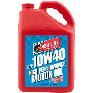REDLINE MOTOR ENGINE OIL 10W40 1 GALLON BOTTLE (3.785 LITRES) FULL SYN
