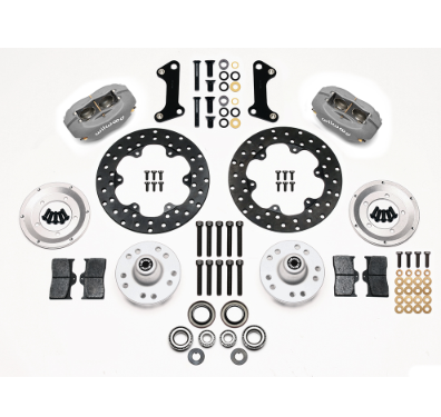 WILWOOD DYNALITE DRAG RACE FRONT HUB KIT (DRILLED ROTOR)