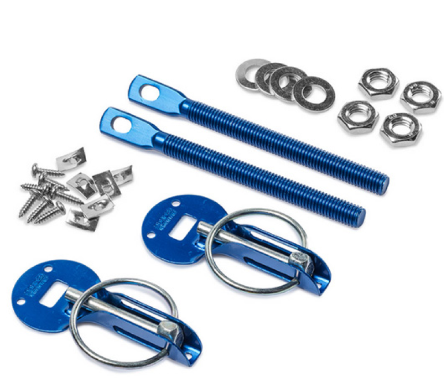 SPARCO Bonnet Pins - Aluminium Blue, Red Or Stainless
