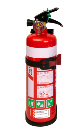 FIRE EXTINGUISHER 1KG STEEL