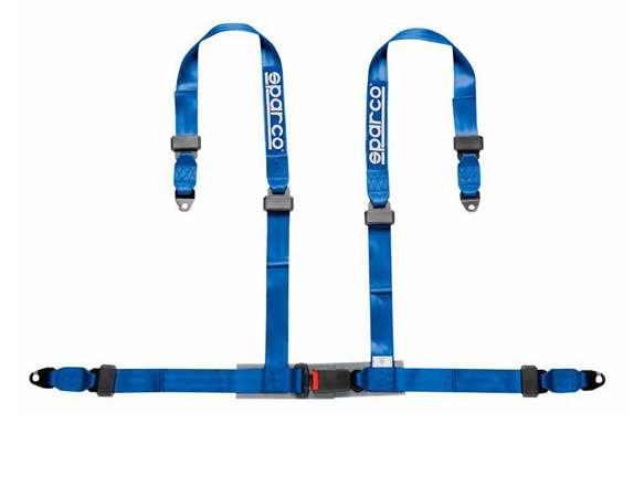 SPARCO 4 Point 2 Inch Bolt Down Harness - Black, Blue Or Red
