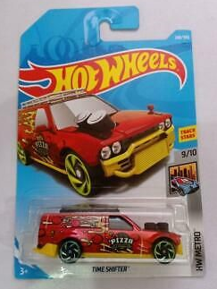 1:64 Scale Hot Wheels Time Shifter HW Pizza Delivery Van In Red 248/365