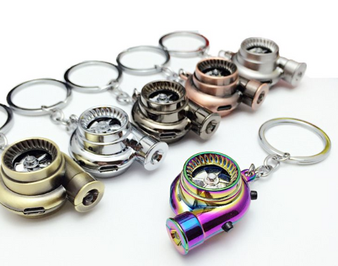 TURBO KEY CHAIN / KEY RING - HAS SOUND & LIGHT (VARIOUS COLOURS)