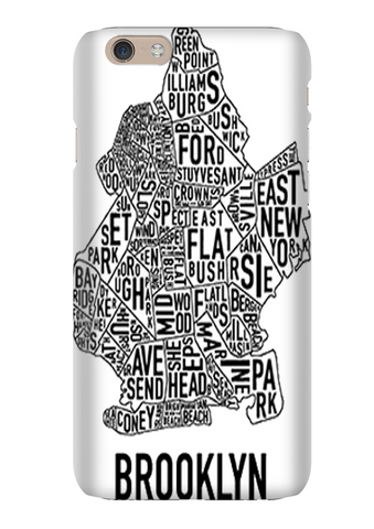 Brooklyn City Map Hip Hop Phone Case