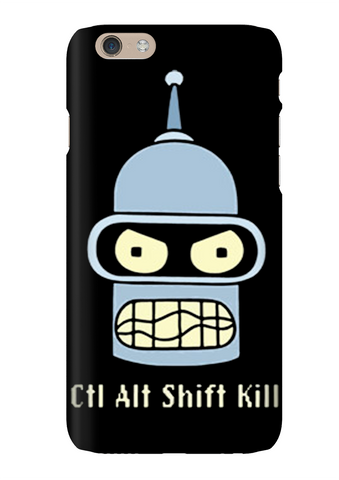 Futurama Ctrl Alt Shift Kill Bender Phone Case