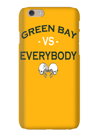 Green Bay Vs Everybody Football Gold Phone Case