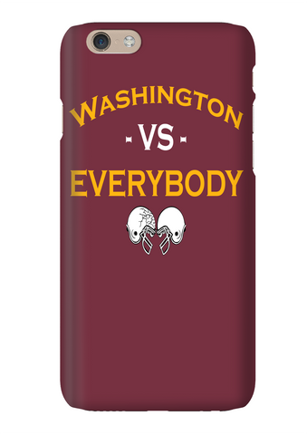 Washington Vs Everybody Football Red Phone Case