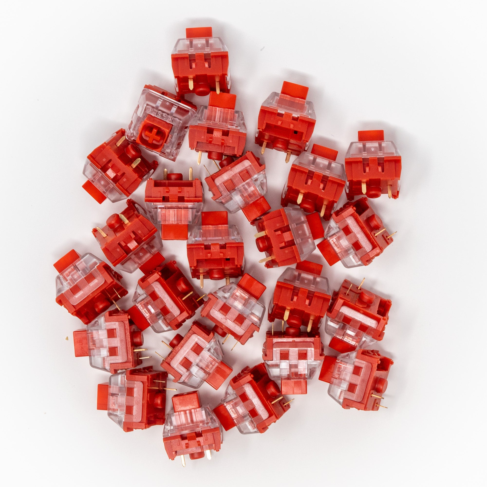 Kailh BOX Chinese Red Keyswitches x 25
