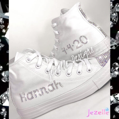 Diamante Converse Womens