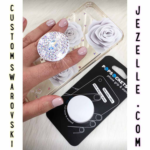 Crystal Clear Swarovski PopSocket